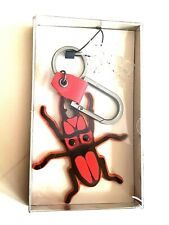 Keyring Key Holder Gift Carabiner Clip ZARA Mens Spider Insect Red Ring Man Keys