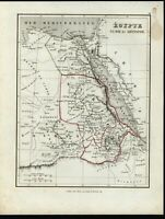 North Africa Nubia Egypt Mountains of the Moon myth shown c.1845-55 Binet map