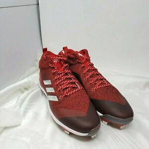 Adidas red adizero  Baseball Cleats men's shoes spg 753001 Size 15