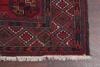 SUMMER DEAL Vintage Geometric Balouch Afghan Area Rug Elephant Feet Pattern 4x7