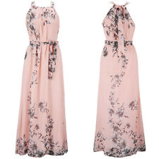 Womens Boho Floral Long Maxi Dress Cocktail Party Evening Summer Beach Sundress