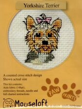 14ct Counted Cross Stitch Kit - Mouseloft - Paw Prints - Yorkshire Terrier Dog