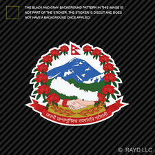 Nepali Coat of Arms Sticker Decal Self Adhesive Vinyl Nepal flag NPL NP