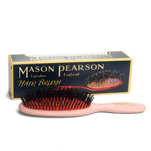 Mason Pearson B3 Handy Pure Bristles Pink Hairbrush - Made in England