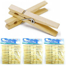 """Lot Of 150 Wood Clothes Pins Laundry Wooden 2 3/4"""" Inch Clothespins Crafts Toys"""
