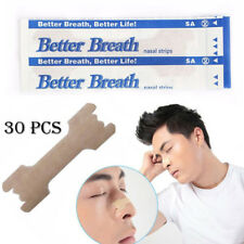 30Pcs Better Breath Nasal Strips Med Anti Snoring Sleep Right Aid Stop Snore