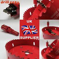 105 - 200mm Drill Bit Bi Metal M42 HSS Hole Saw Cutter For Wood Plaster Board UK