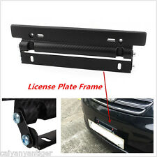 Universal Front Bumper License Plate Mount Bracket Relocator Holder Carbon Fiber