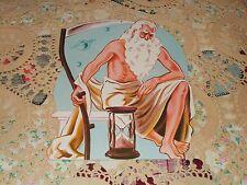 Vtg Eureka Diecut Happy New Year Father Time Cardboard Decoration Nos Mint