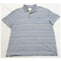 G.H. Bass & Co. Gray Pocket Polo Shirt Short Sleeve XL X-Large Cotton Man's Top