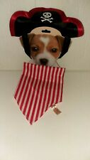 DanDee Pirate Costume - Dog Hat & Bandana Set - Medium - NWT