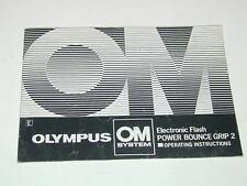 OLUMPUS notice POIGNEE FLASH POWER BOUNCE GRIP 2  en  Anglais photo photographie