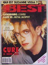 Revue BEST Décembre 1987 Gainsbourg Cure Bon Jovi