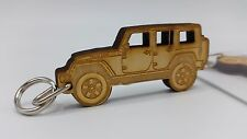 Wooden Engraved Jeep JKU Wrangler Unlimited Keychain