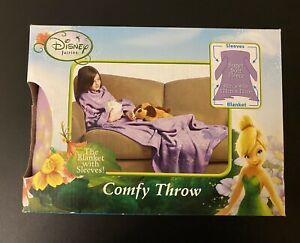 Disney FAIRIES Comfy Throw with Sleeves YOUTH SIZE