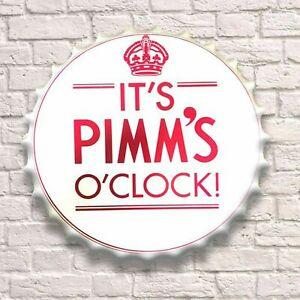 Pimm's O'clock Vintage Retro Wall Sign Metal Bottle Top Bar Man Cave Garage Pub