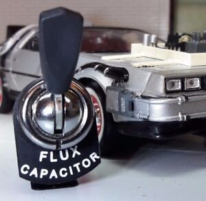 Back to the Future DeLorean Flux Capacitor Lucas Type Toggle Switch Dash Panel