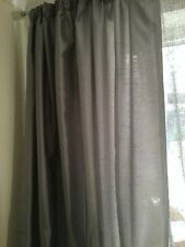 2 PAIRS OF GREY CURTAINS, NO DEFECTS 90X90 NEVER USED SMALLER PAIR 54X45