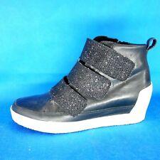 Marc Cain Damen Schuhe Sneaker Größe 38 Schwarz Leder Hidden Heel Np 199 Neu