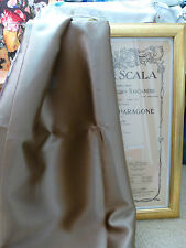 Designers Guild Satinato bronze light brown double sided satin fabric 150 x 91cm
