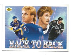 1992-93 Upper Deck #423 Wayne Gretzky / Brett Hull Back To Back