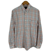 Industrie Mens Button Up Shirt Size Medium Multicoloured Plaid Long Sleeve