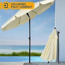 Ivory 2M Garden Parasol Outdoor Umbrella Canopy Tilt Mechanism Grade A Refurb