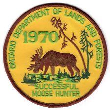 1970 Ontario Successful Moose Hunting Patch Michigan Bear Deer Turkey #4