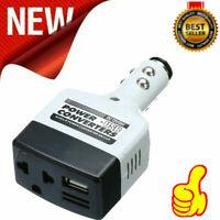 12V DC to AC 220V Car Auto Power Inverter Converter Adapter Adaptor Plug US T2V9