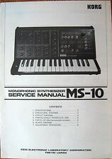 Korg MS-10 Monophonic Synthesizer Original Service Manual Booklet, 80's Japan