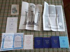Collection of Vintage Masonic Ephemera