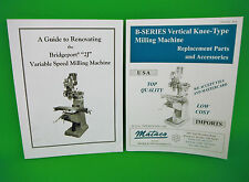 RENOVATION GUIDE BRIDGEPORT 2J VARIABLE SPEED MILLING MACHINE & PARTS CATALOG