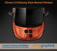 Citroen C3 Bonnet Airbump Stickers decals - Other colours available
