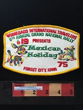Vtg WIT 1975 Grand National Rally Forest City PATCH Mexican Holiday Piñata 62K3