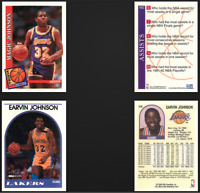 Earvin Magic Johnson Los Angeles Lakers Lot of 2 Basketball Cards 80s 90s VTG