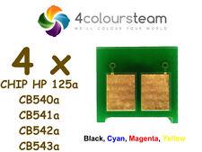 4x Toner Reset Chips (1set) pour HP 125 A CB540A CB541A CB542A CB543A | CP1215