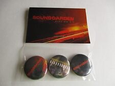 Soundgarden Band  Buttons Live On I-5 Set Of 3 Telephantasm NEW