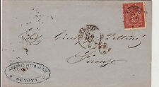 DE LA RUE-2 cent(15)-Lettera Genova- Firenze 13.4.1865