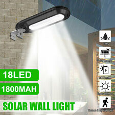18 LED Solar Street Light IP55 Waterproof Dusk to Dawn Outdoor Commercial Lamp