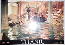 "Titanic (1997) 'rising waters'  Italian photobusta movie poster (17.5""x25"") S/S"