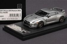 1 of 60 - Nissan R35 GT-R  Premium -- Gun Metallic -- HPI 1/43 #8321 Resin