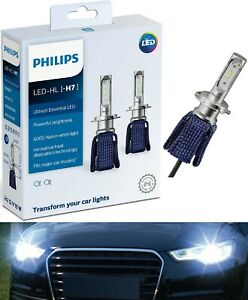 Philips Ultinon LED Kit 6000K White H7 Two Bulbs Head Light Low Beam Replacement