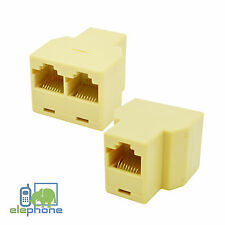RJ45 Ethernet LAN Network Y Splitter Double Adapter 3 Ports Coupler Split Cat 5e