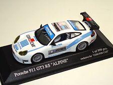 """Porsche 911 gt3 rs 996 """"ALPINE/com for car"""" - Minichamps 1:43 - le 999 pc."""