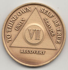 7 Years - VII Years - Alcoholics Anonymous recovery medal token chip coin
