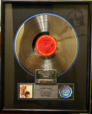 (Rolling Stones) MICK JAGGER She's The Boss RIAA Platinum Record Award jeff beck