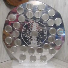 50p pence mirror coin hunt album stand Kew gardens display holder all designs