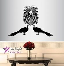 Wall Vinyl Peacock Peafowl Feather Birds Removable Wall Sticker Room Decor 952