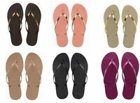 Havaianas Brazil You Metallic Flip Flops Summer Sandals Vary Colors Sizes