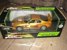 The Fast and Furious 1993 Toyota Supra Diecast Car 1:18 Ertl Racing Champions